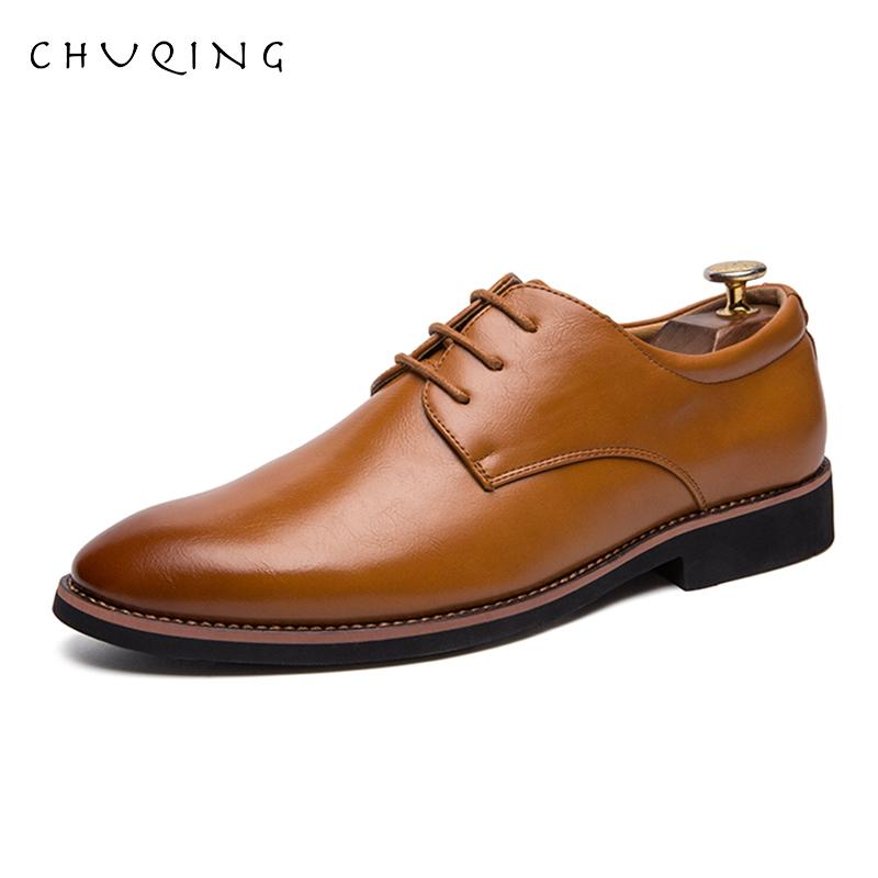 CHUQING Erkek Elbise Slaytlar Zapatos Moda Deri Parlak Business De Hombre Ayakkabı