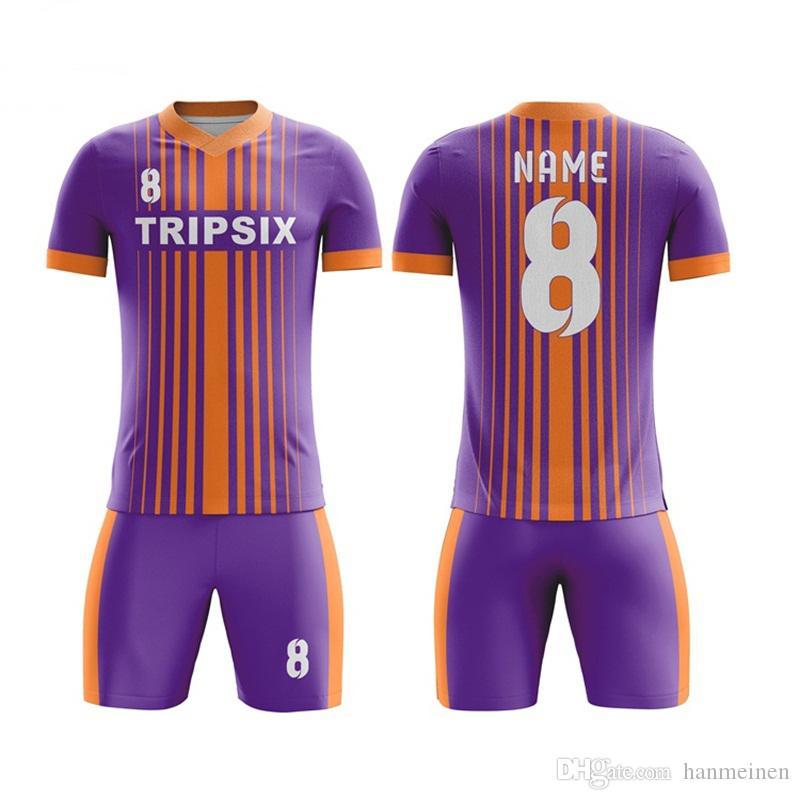 Calcio Imposta 2019 Nuova formazione uniforme della squadra Completi Uomo Donna Sport Kit traspirante ChildrenKids pullover di football possono abitudine
