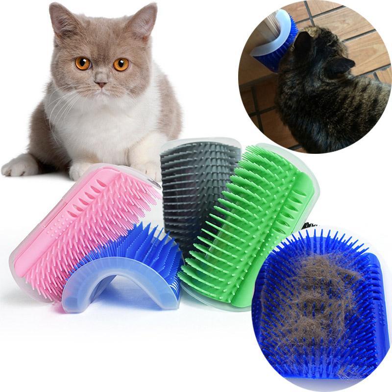 Angolo capelli dell'animale domestico del pettine della spazzola del gioco del gatto Peluche auto del gatto Groomer caduta dei capelli Taglio gatto del cane del dispositivo di massaggio