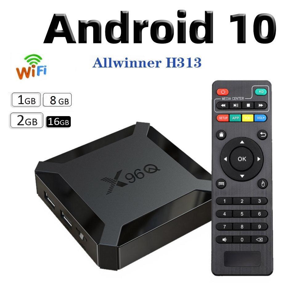 X96Q الروبوت 10.0 صناديق TV ALLWINNER H313 رباعية النواة 2GB + 16GB دعم 2.4G واي فاي كاجا دي التلفزيون الروبوت PK TX3 H96 MAX