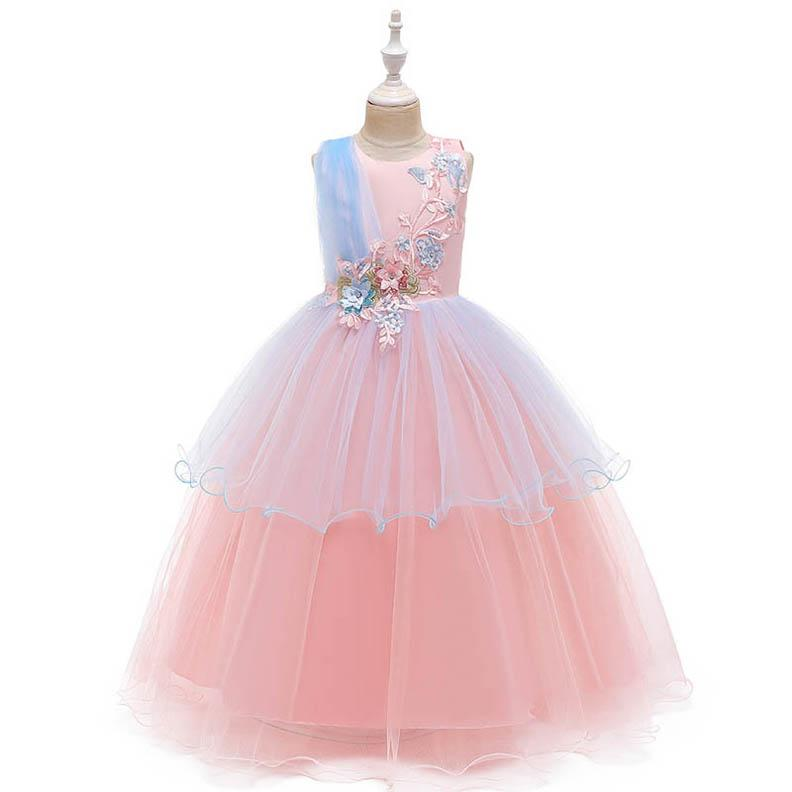 UK Seller New Sale Summer Pretty Lace Floral Party dress Flower Girl Dress 3-8 Y
