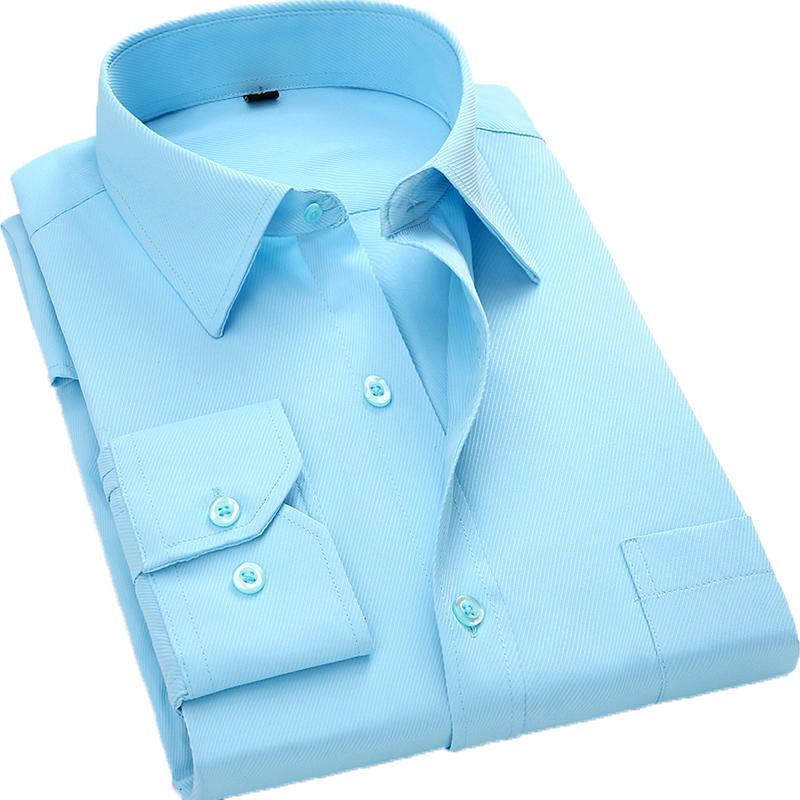 Мужские повседневные рубашки Aoliwen бренд мода рубашка мужчины с длинным рукавом Slim Fit Button-Down Formate платье одежда