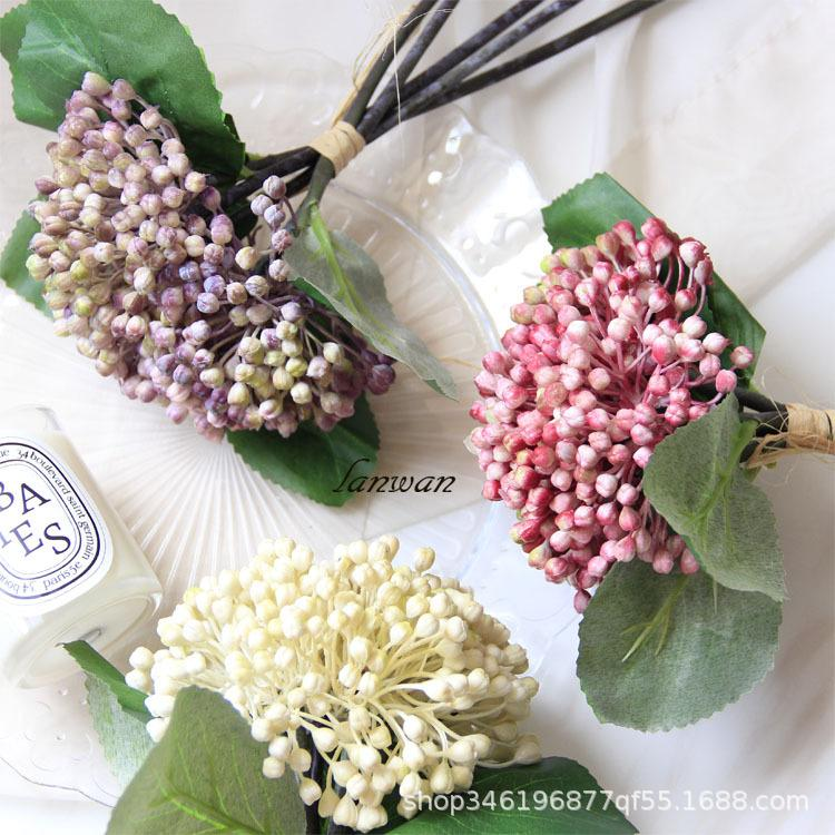 5Heads Simulation Berry Flower Artificial Hydrangea Bouquet Photography Props Decorations Wedding Decoration Artificial Berries Bouquet