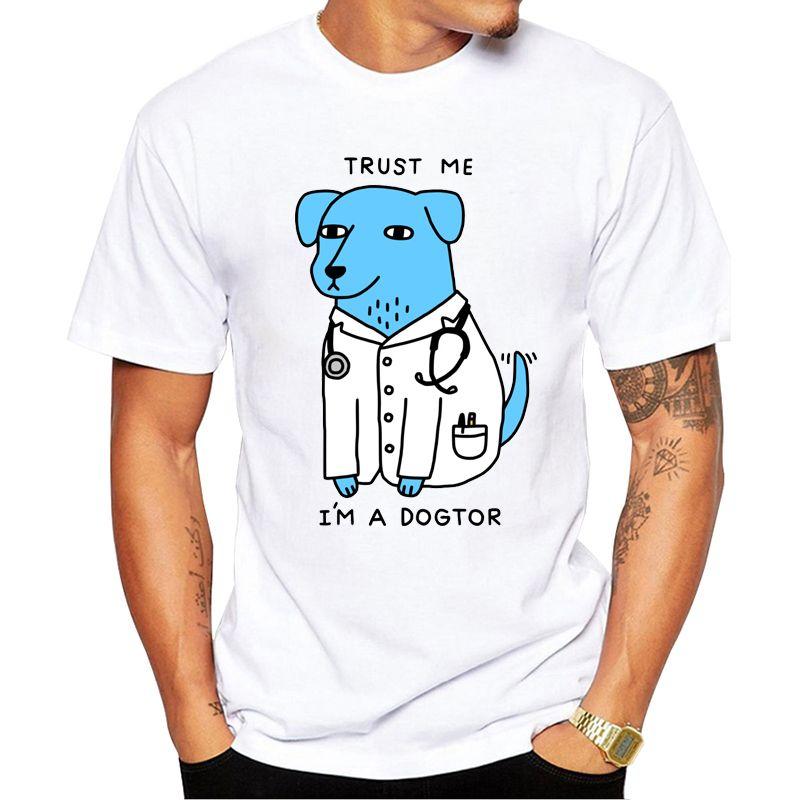 T-shirts hommes 2021 Est Design Faire confiance, je suis un chien Dogtor T-shirt chien drôle marque T-shirt punk hip hop rocher unisexe tee