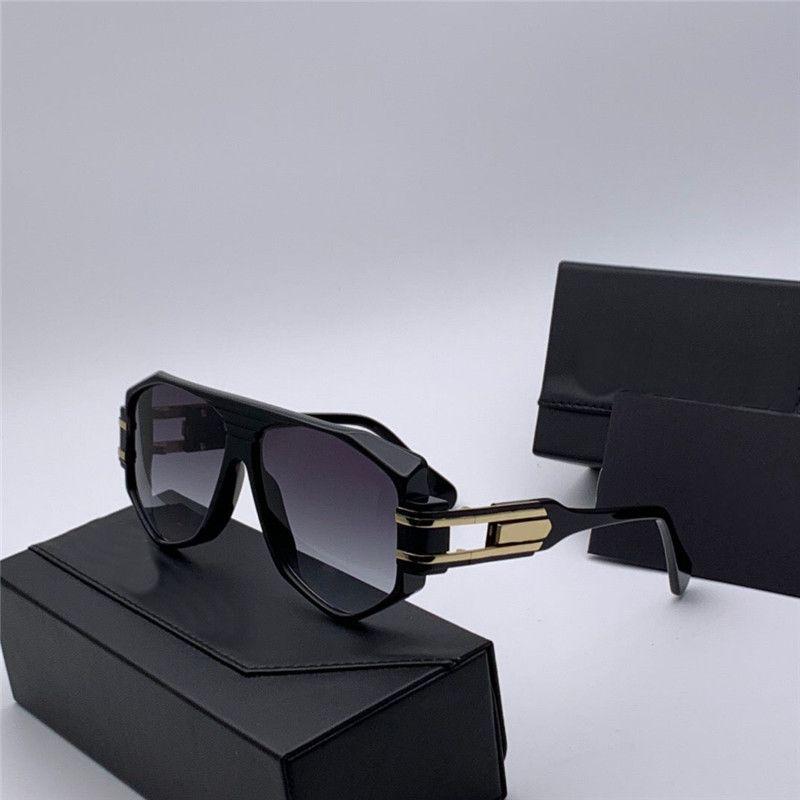 Novos homens populares piloto óculos de sol 163 Óculos de sol de quadro oco retangular moda estilo design simples com casos de óculos originais