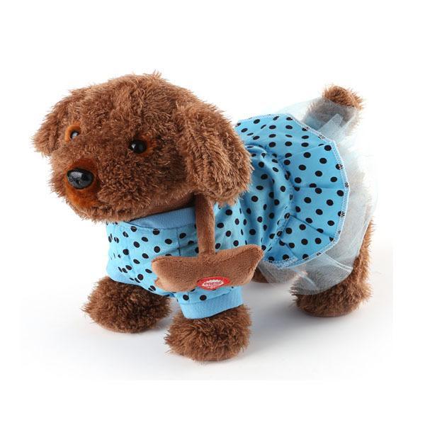 어린이 전기 로프 개 봉제 장난감 강아지 산책 강아지 음악 기계 원격 제어 개 장난감 전자 애완 동물