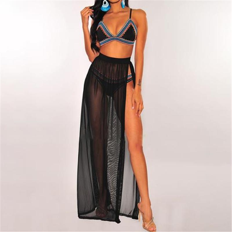 Fashion Swimsuit Cover Up Sexy Beach Wear Women Skirt Beach Coverups For Women Bikini Cover Up Mesh High Waist Skirt Playa Mujer