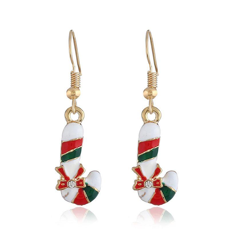 Nuevo diseño de moda cuelgan de Navidad pendiente creativa caliente de la venta al por mayor pendientes pendientes del encanto de la mujer caída de Navidad fábrica de joyas