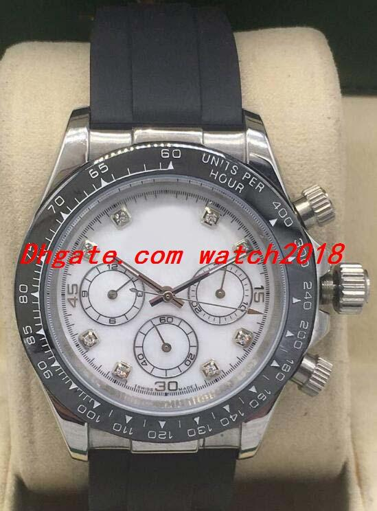 Reloj 3 Estilo de lujo de cerámica de 40 mm Bisel 116519 correa de caucho fábrica Dial relojes de los hombres de moda de Automática