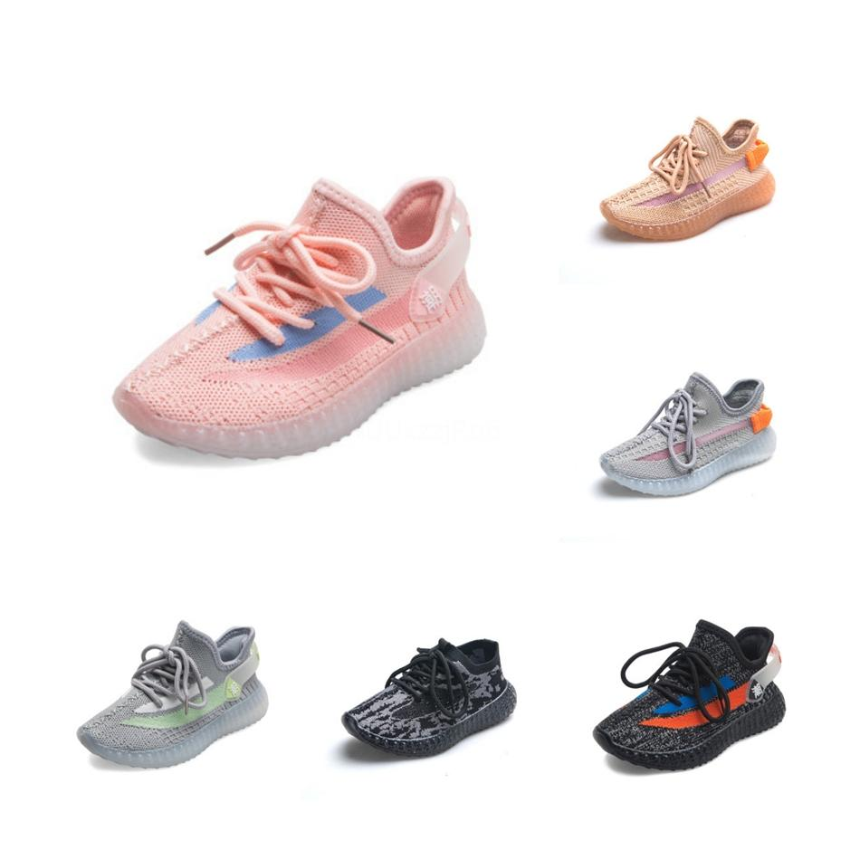 Детский конструктор кроссовки Hiphop Марка Kanye West обувь для мальчиков девочек Подростков Активные дышащий Кроссовки Eur 22-31 для оптовой продажи # 433