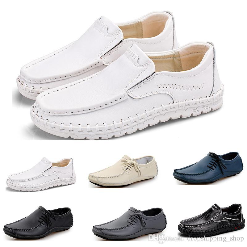 Мужские кроссовки мода спортивные мужские кроссовки черный белый коричневый темно-синий серый кремовый белый комфортабельный спортивный платье тренеров кроссовки 80