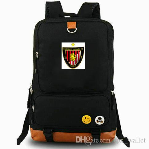 Kispest backpack Honved football club daypack 1909 Budapest FC Soccer laptop schoolbag Leisure rucksack Sport school bag Outdoor day pack