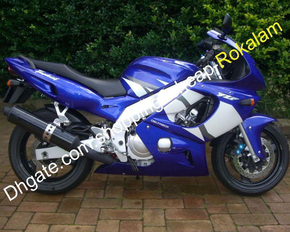 Pour Yamaha YZF600R Thundercat 97-07 carénages YZF600R 1997-2007 600 R YZF Bleu Blanc Moto après-vente Carénage Kit