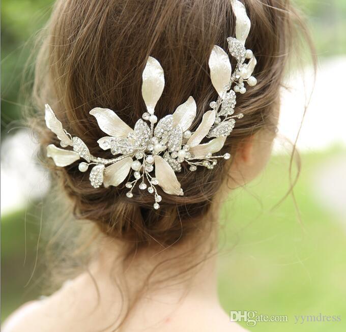 Hochzeit Braut Kristall Fascinators Haar Blumen Schmuck Strass Crown Prinzessin Königin Kopfschmuck Prom Silber Haarband Zubehör