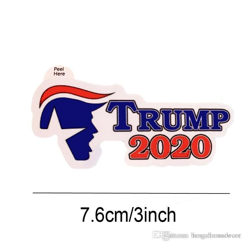 Trump Notebook Etiqueta 2020 de Estados Unidos Elección Presidencial Trump Etiqueta Campaña de Apoyo Notebook etiqueta engomada del parche de vehículo 4 Estilos BH2039 CY