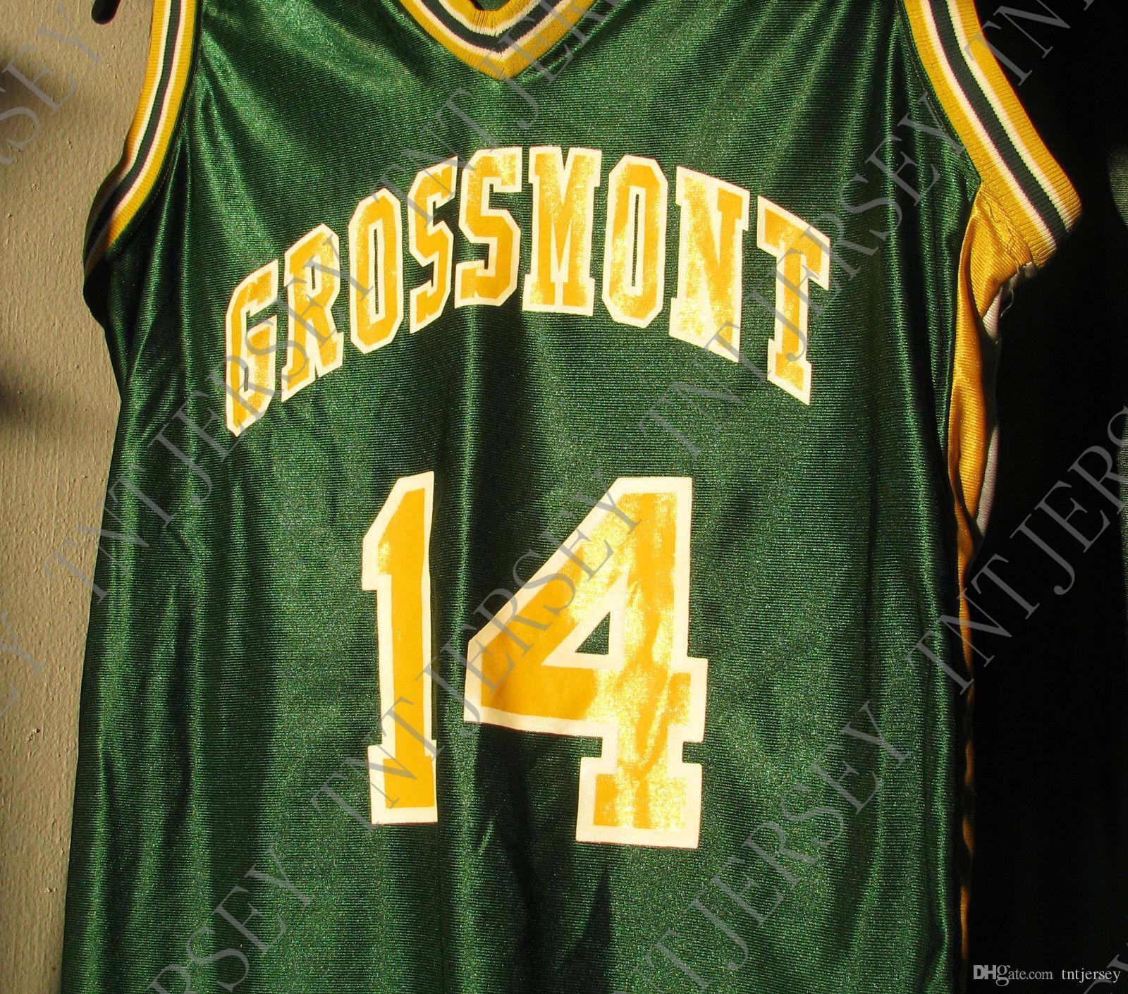 ordinazione poco costoso Grossmont College Green Basket Team Jersey ricamati Personalizza qualsiasi numero nome UOMINI DONNE GIOVANI JERSEY XS-5XL