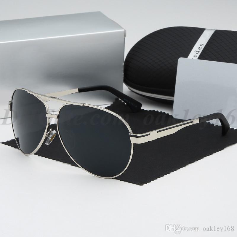 رجل جديد وإمرأة المعدنية 737 النظارات الشمسية العلامة التجارية مصمم النظارات الشمسية الكلاسيكية طيار نظارات شمس مع حالة الحرة وصندوق