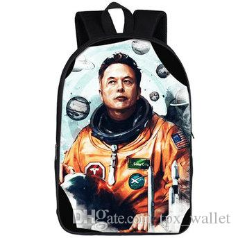 Elon Misk sırt çantası Uzay X sırt çantası Occupy Mars gezisi schoolbag Büyük resim baskı sırt çantası Spor okul çantası Açık gün paketi
