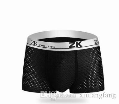 wholesale low price wholesale 3 pcs/lots mesh men's breathable comfrotbale boxers underwear 10.3tyy