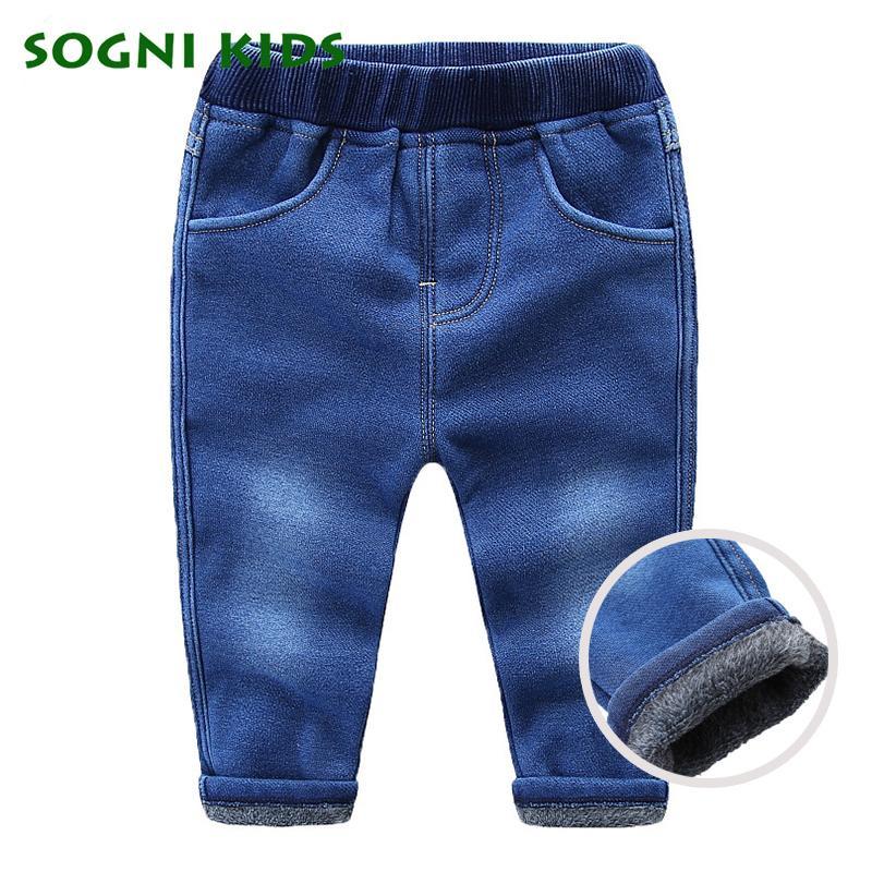 Winter Jeans Für Jungen Mädchen 2018 Winter Warme Hosen Mit Fleece Legging Hosen Kinder Denim Hosen Mode Kinder Kleidung J190517
