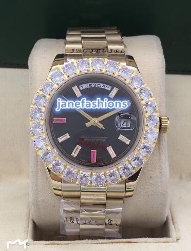 boutique de lujo de los hombres de moda relojes Grapas diamantes populares de acero inoxidable resistente al agua reloj automático reloj caliente de la venta