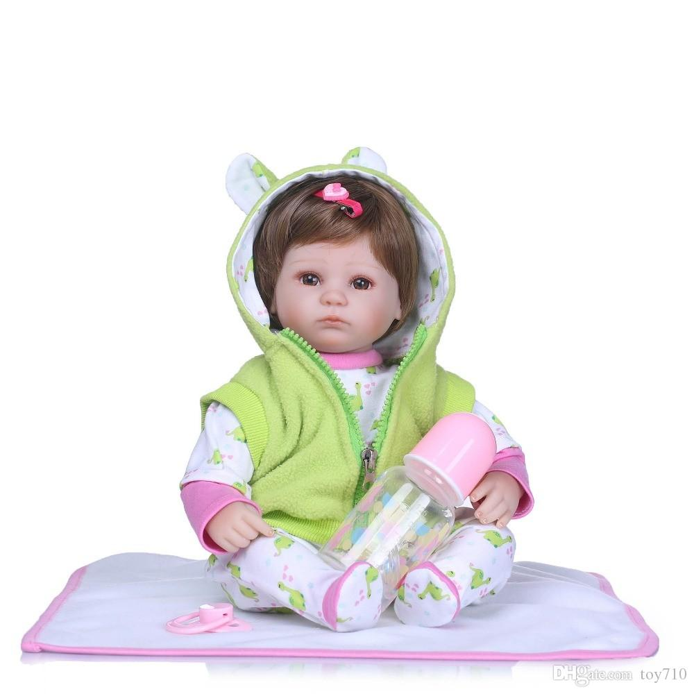16 Inch 40cm Realistic Reborn Babies Vinyl Silicone Lifelike Boy Body Baby Dolls For Princess Children Kids Sleeping Toy