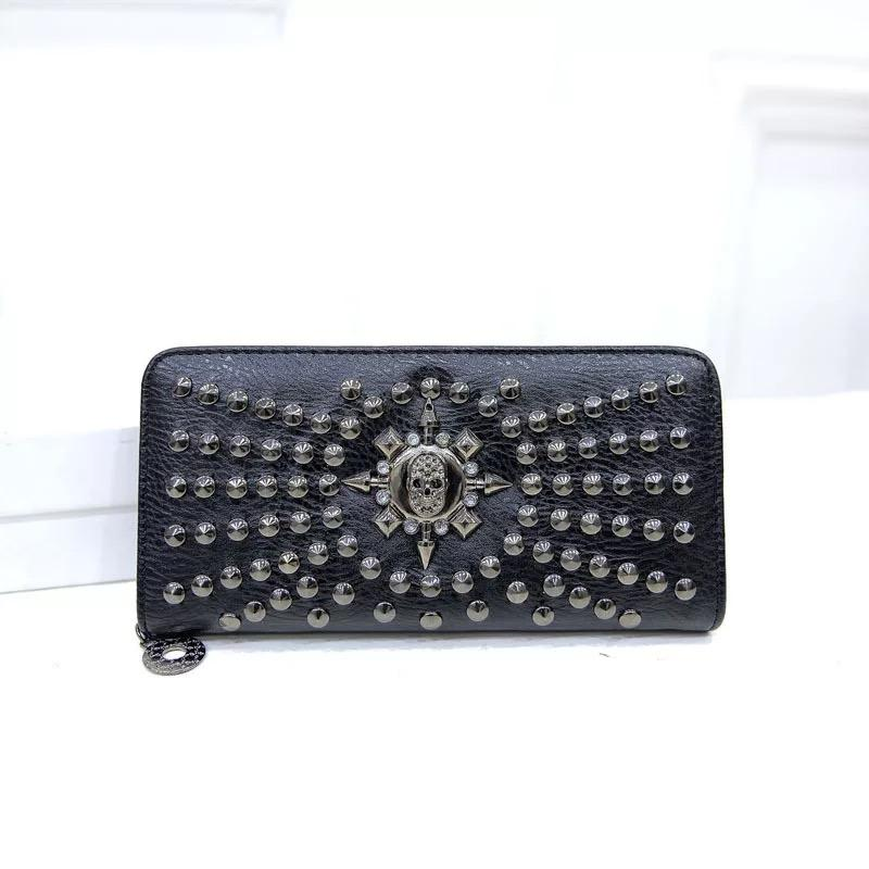 Black Plain Leather/Most Color Wholesale Fashion Simple Wallet In Style Accordion Pu Sliver Popular Purse Cute And Phkub