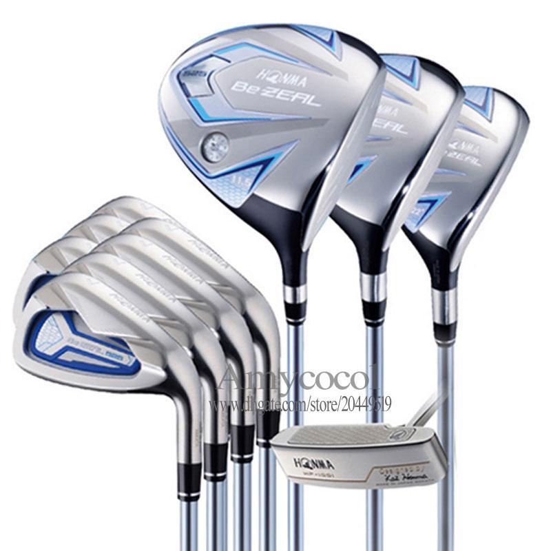 Nuove Donne Golf Clubs Honma Bezeal 525 Set completo di club Golf Driver Hybrids Irons Polter Golf Set Grafite Shaft Spedizione gratuita