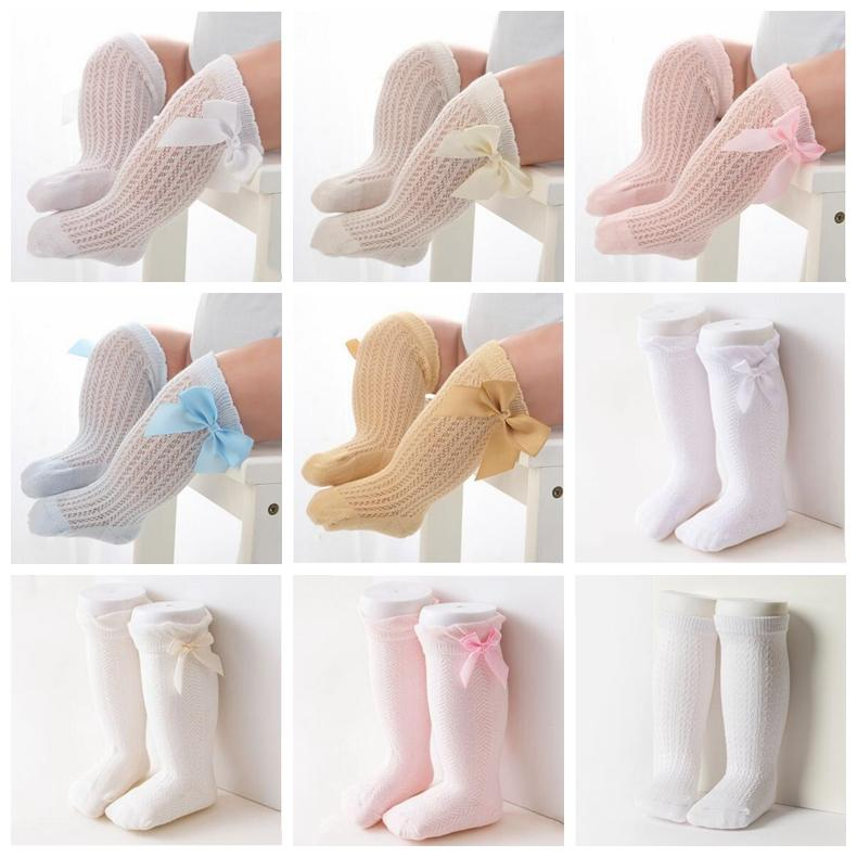 NEW Kids Girls Boys Hosiery Casual Breathable Solid Cotton Socks colors size