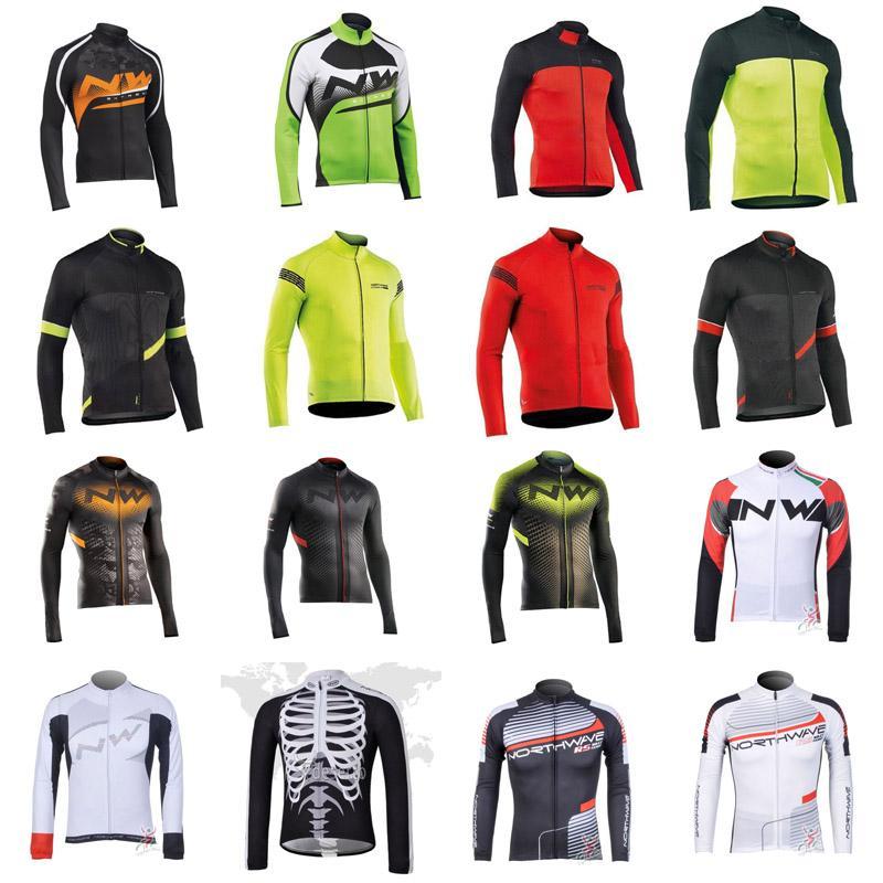 2020 Primavera / autum equipe NW ciclismo mangas compridas Camisa de bicicleta Roupa Ropa Ciclismo Homens Mtb exterior V62949 sportwear