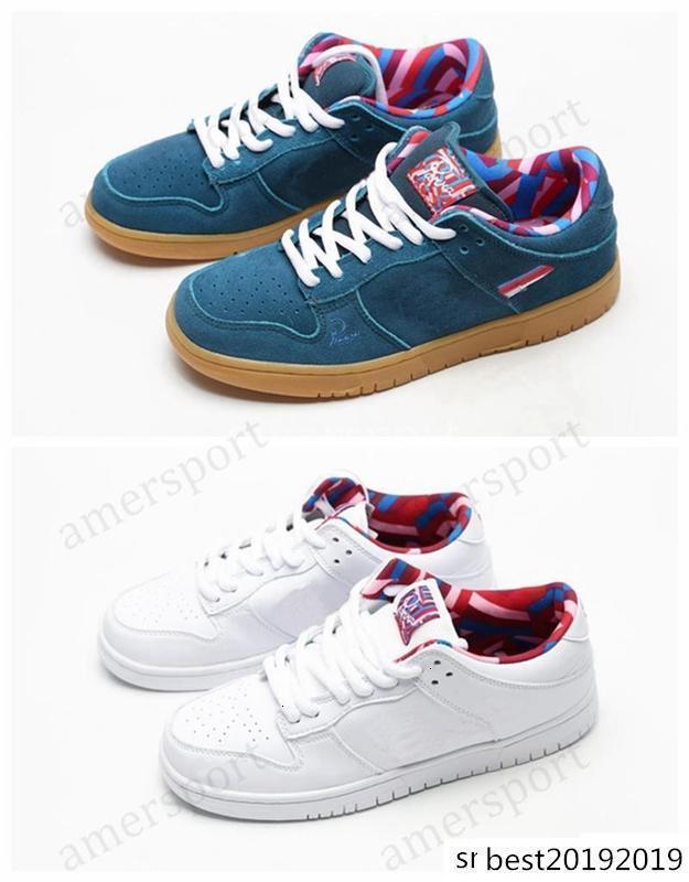 New SB Dunk Low Parra amis et la famille arc-en-Chaussures de course pour hommes, femmes blanc rose de Chaussures de skate concepteur de sport Chaussures de sport 36-45