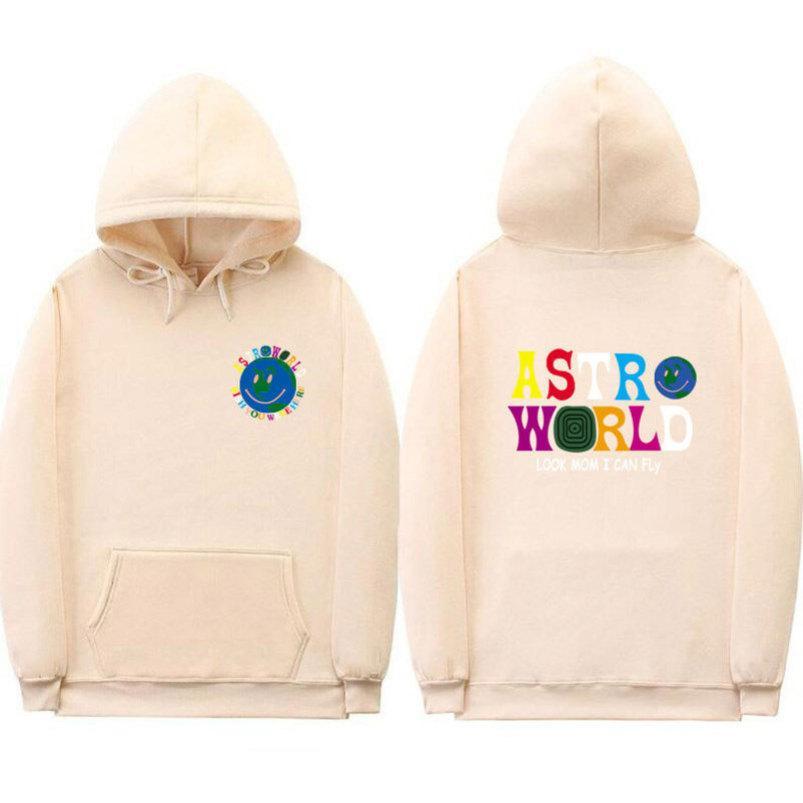 AstroWorld Travis Scott Hombres sudadera con capucha casual con capucha Hip Hop AW Streetwear de manga larga con capucha Sudaderas diseñador