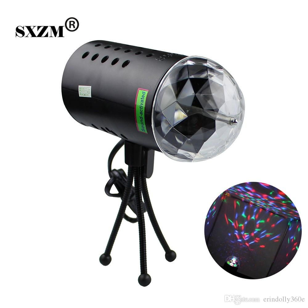 3W LED RGB Crystal Ball Sound Active Stage Lighting Effect for Party Wedding Lighting Show Celebrations lamp DJ Disco