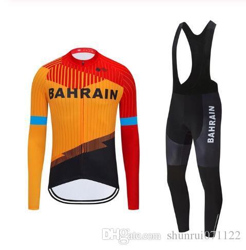 Бахрейн команда Велоспорт короткие рукава Джерси шорты наборы велоспорт одежда дышащий открытый горный велосипед Велоспорт майки последние