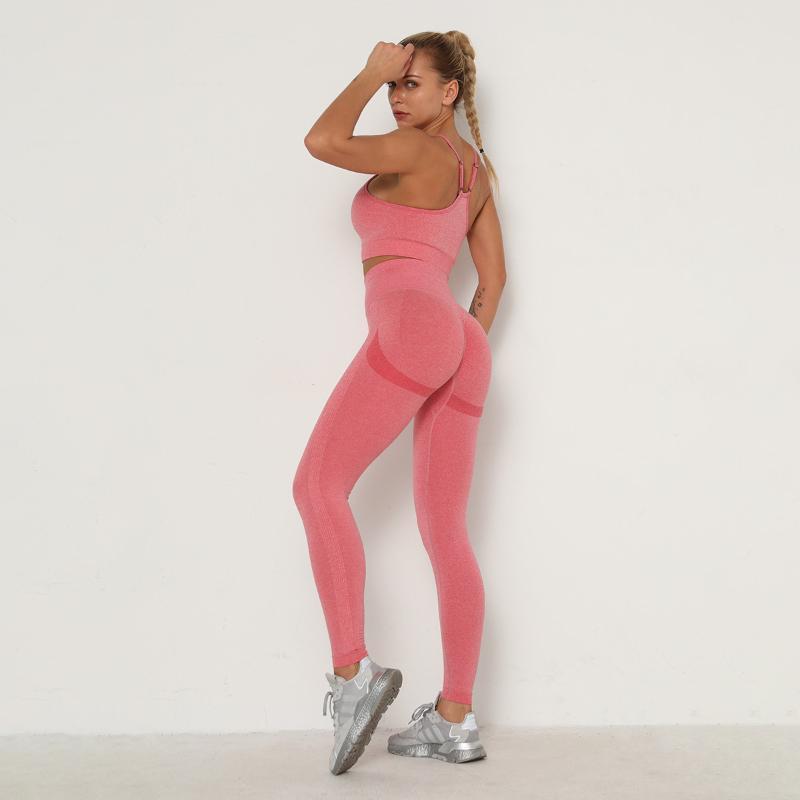 Entrenamiento continuo mental Ropa para Mujer Leggings Conjunto 2 piezas Conjunto gimnasio Mujeres Mujeres transpirable Leggings Yoga chándal