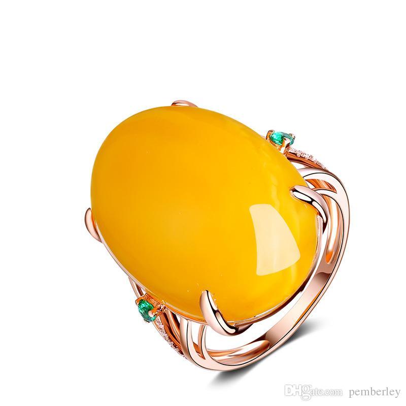 R1065 роскошные Кольца ювелирные изделия женский Новый Стиль розовое золото Кольца Для Женщин Пчелиный воск кристалл чередование для девушки цветка любви