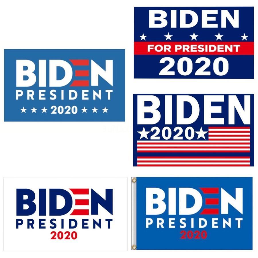 2020 Donald Biden Flag Haltegriff USA-Flaggen Halten Sie Amerika Große Banner Flags 90 * 150cm Papier wasserdichte Hand Flagge Flagpole 30Cm Nachrichten E3 # 44