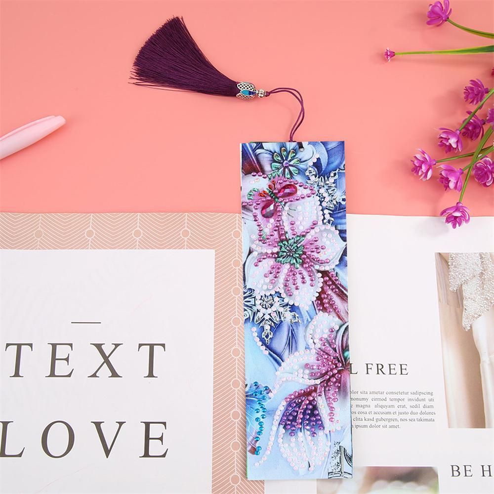 5D Diamond Painting Tools Kit Leather Bookmark Book Marks DIY Craft With Tassel