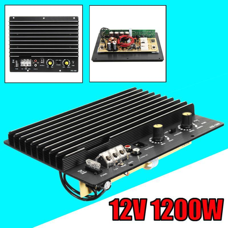 12V 1200W 100A Brett Mono Car Audio Power für 8/10 Zoll-Lautsprecher