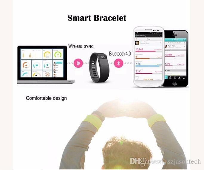 Wrist Bands Fibit TW64 Wristband Smart bracelet Wristband Fitness tracker Bluetooth 4.0 Fitbit Flex Watch for IOS Android