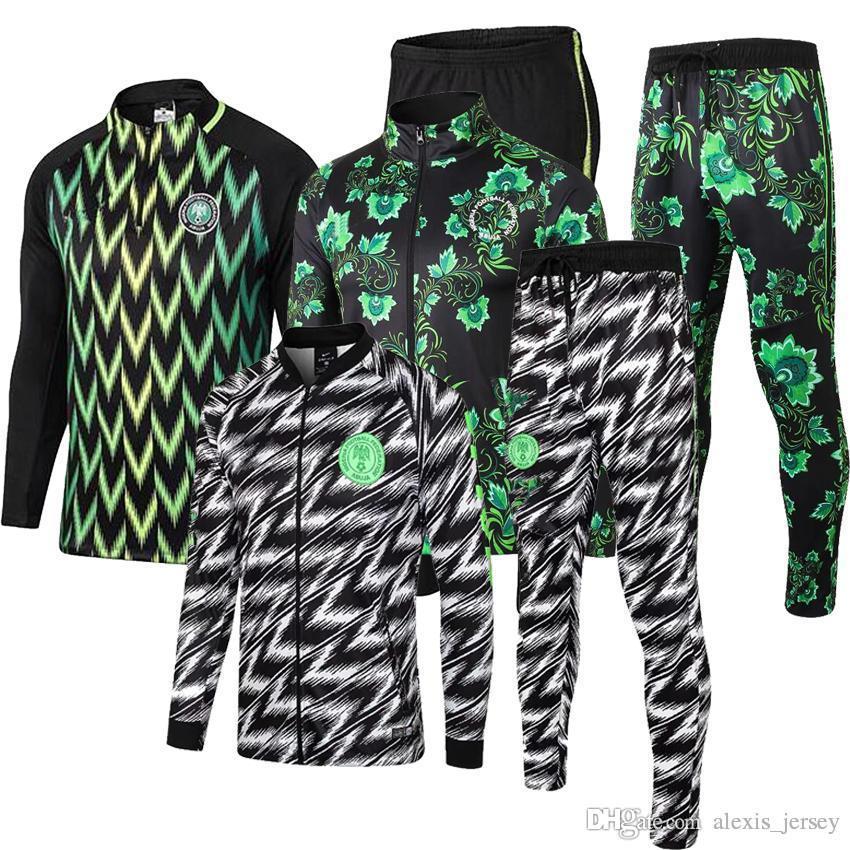 noticias 2018 2019 Copa Mundial de traje de entrenamiento de manga larga Nacional de Nigeria de fútbol Fútbol de deporte al aire libre Chandal determinada de la manera traje