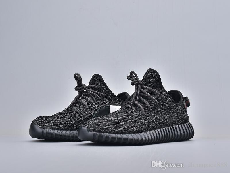 Vendita calda Pirata Nero Athletic Designer Shoes Nuovo comfort Classic Kanye West Moda formatori prossimo con la scatola Size36-48