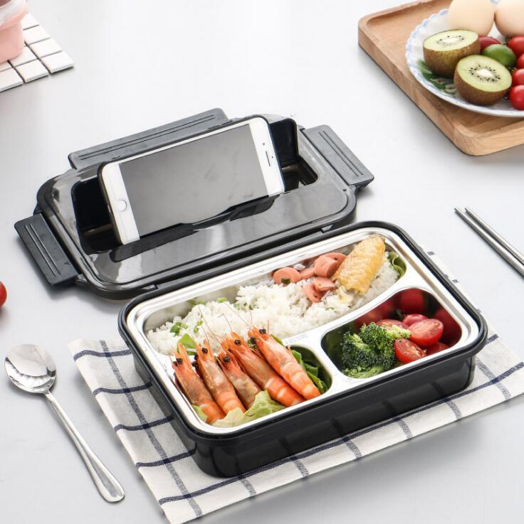 Set di 3 contenitori per il pranzo in acciaio inox 304 con borsa per il pranzo Bento Rilakkuma