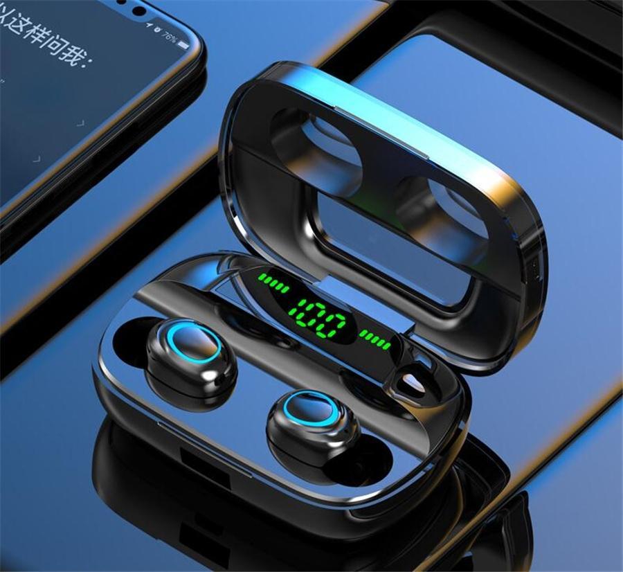 Tws A6S auricolare Bluetooth 5.0 senza fili auricolari Vita impermeabile auricolare Bluetooth con microfono per Samsung Huawei # OU798