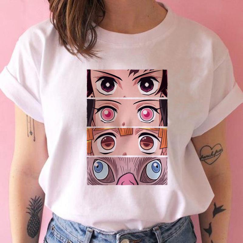 kimetsu non yaiba Demon Slayer t donne della camicia grafica T superiori giapponesi anime maglietta Harajuku kawaii streetwear punk tshirt