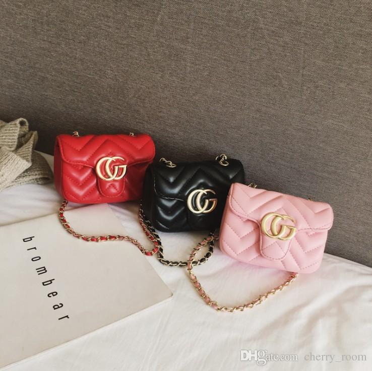 INS Bebek Kız çanta PU Mektup Çocuk metal tek omuz çantası Moda Çocuklar messenger çanta Kız tasarımcı Mini çanta C4230