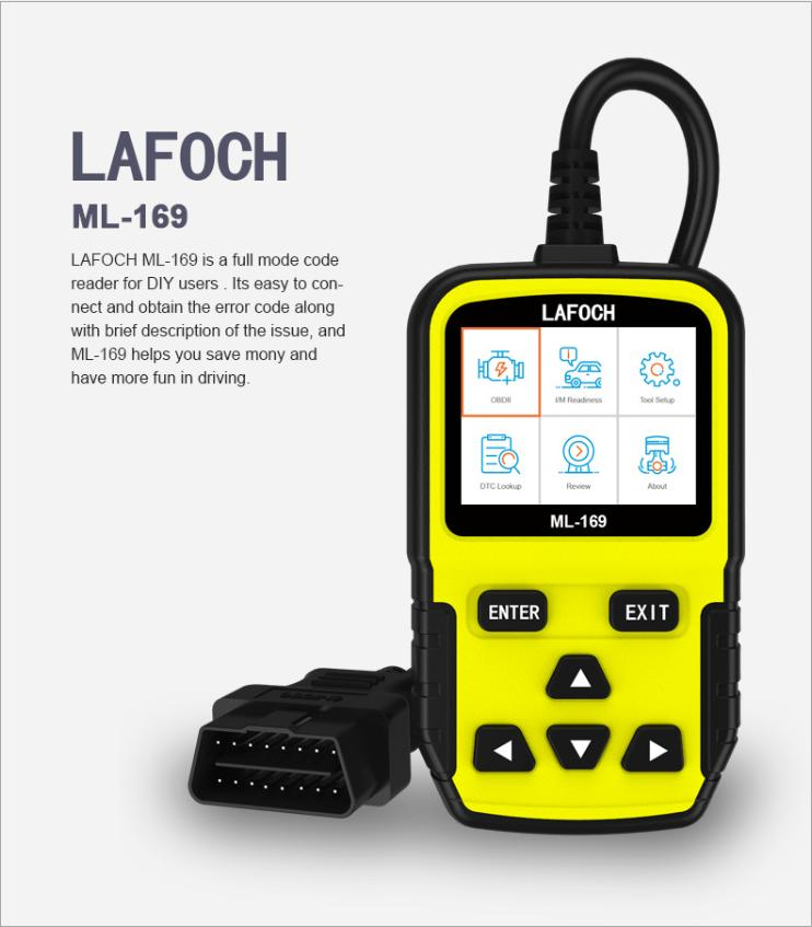Vehicle tester engine fault detector code clearing and reading ml169