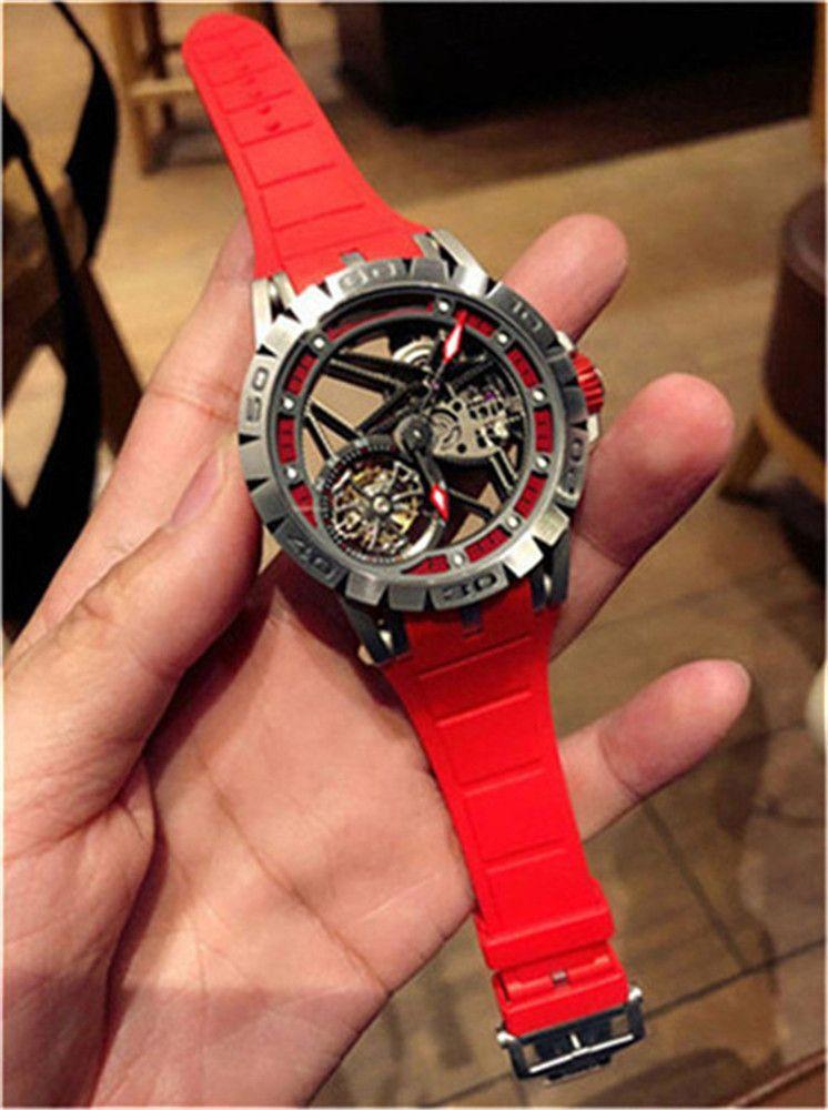 Новый 2020, высокое качество, настоящий турбийон, диаметр 45mx13mm, часы бренда, пряжка ремня, сапфировое зеркало, дизайнерские часы, водонепроницаемый