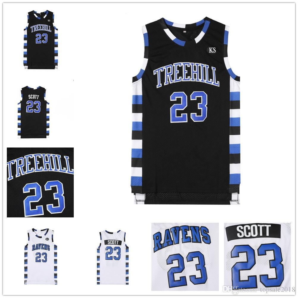 Nathan Scott #23 One Tree Hill Ravens Basketball Blue Jersey