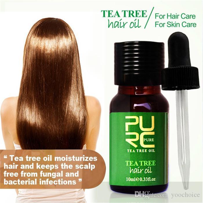 PURC чайное дерево и марокканское масло для волос 10 мл лечение волос для сухих и поврежденных увлажняет волосы и лучше всего подходит для ухода за кожей 6 шт.